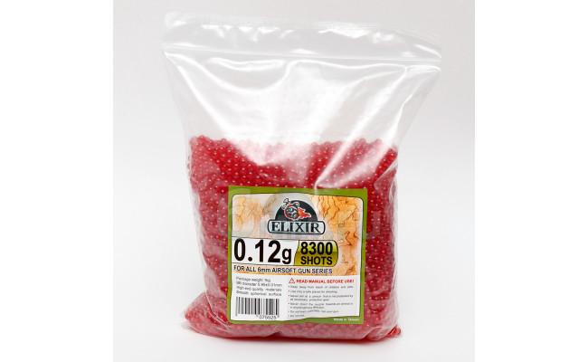 ELIXIR Шары для страйкбола 0,12-8300 шт. (1кг) красные/прозрачные