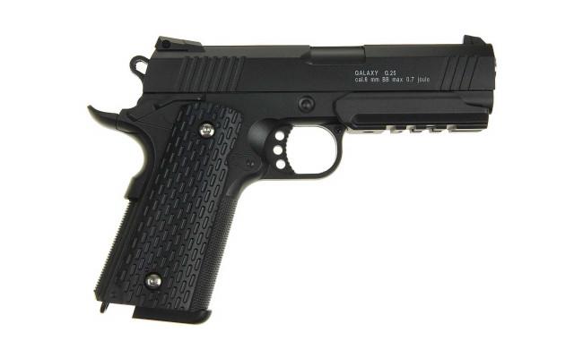 Страйкбольный пистолет G.25 COLT1911PD Rail (Galaxy)