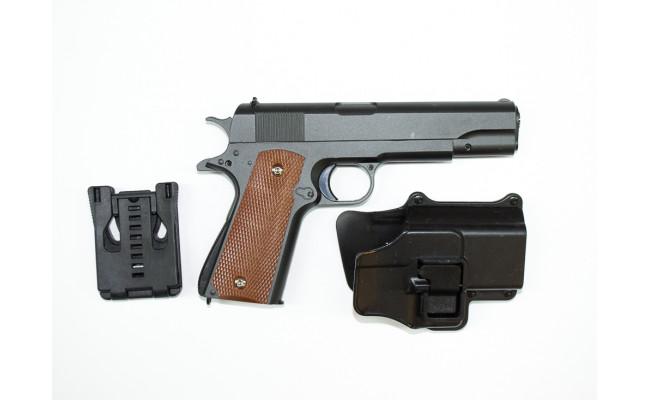 Страйкбольный пистолет G.13 COLT1911 Classic с кобурой (Galaxy)