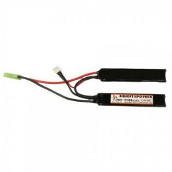 Аккумулятор Li-po 1100H20C mAh 7.4V двухлепестковый 100*20*5 (iPower)