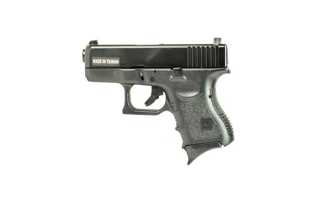Страйкбольный пистолет Glock G27, Gas, Metal Slide, черный (KJW)