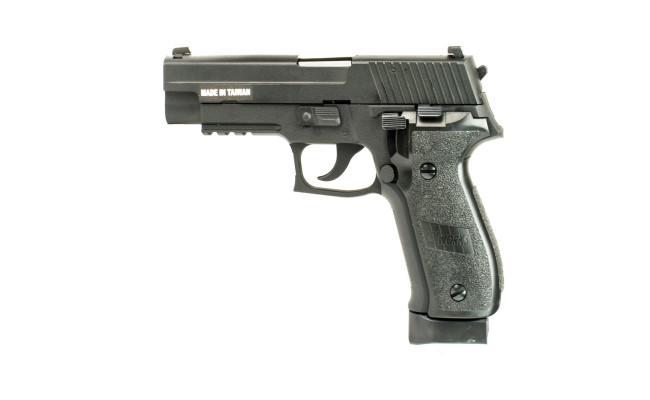 Страйкбольный пистолет Sig226, CO2, чёрный (KJW)