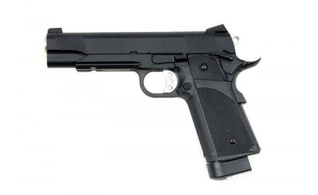 Страйкбольный пистолет Colt M1911, CO2, черный (KJW)