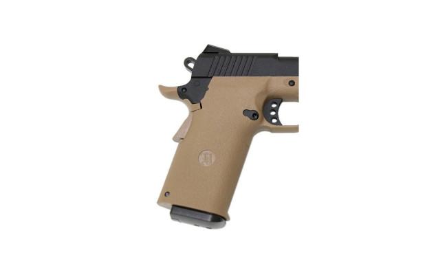 Страйкбольный пистолет Colt M1911, CO2, песочный (KJW)