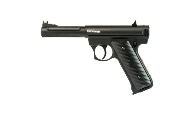 Страйкбольный пистолет Ruger MK2, CO2, черный (KJW)