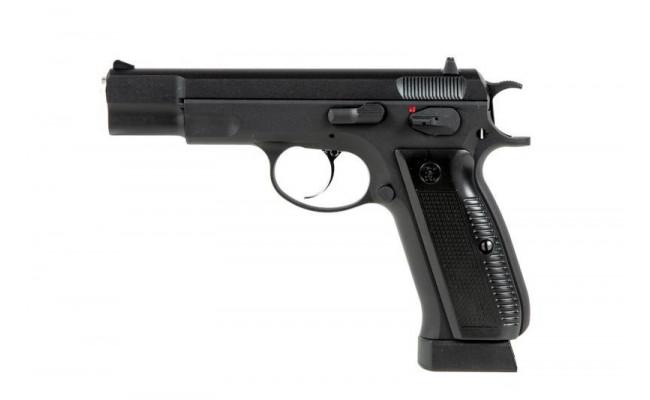 Страйкбольный пистолет CZ75, CO2, черный (KJW)