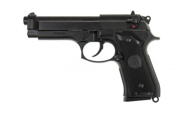 Страйкбольный пистолет  M9, CO2, черный (KJW)