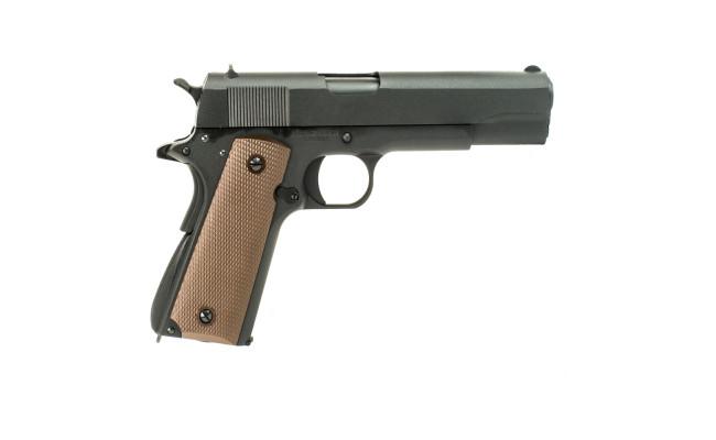 Страйкбольный пистолет Colt 1911, Gas, чёрный (KJW)
