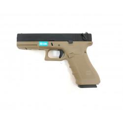 Страйкбольный пистолет Glock G18 Gen.4, Gas, песочный (WE)