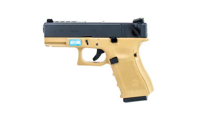 Страйкбольный пистолет Glock G23 Gen.4, Gas, песочный (WE)
