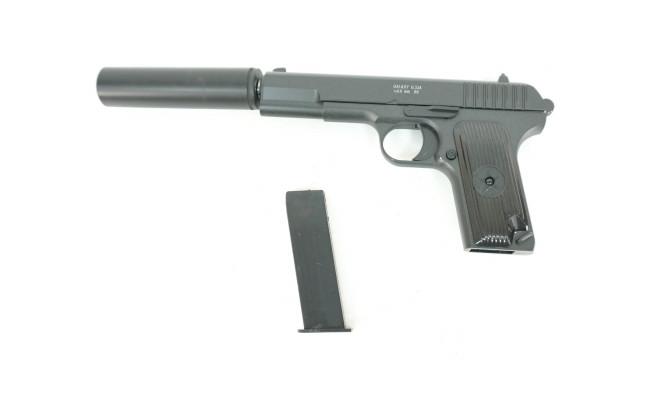Страйкбольный пистолет G.33A ТТ с глушителем  (Galaxy)