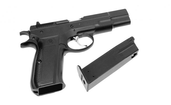 Страйкбольный пистолет CZ75, Gas, черный (KJW)