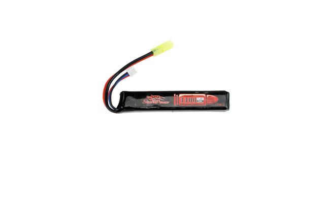Аккумулятор 1100mah 7.4V 20C 101x20x13мм (Storm Power)