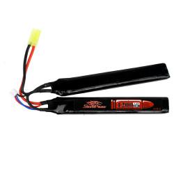 Аккумулятор 1200mah 7.4V 20C 2x(126x20x6)мм (Storm Power)