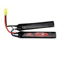 Аккумулятор 3000mah 7.4V 20C 2x(128x21x17.5)мм (Storm Power)