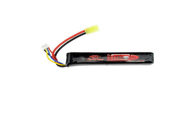 Аккумулятор 1200mah 11.1V 20C 126x20x19мм (Storm Power)