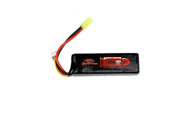 Аккумулятор 2400mah 11.1V 20C 106 x35 x26мм (Storm Power)