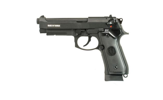 Страйкбольный пистолет M9A1, CO2, черный (KJW)