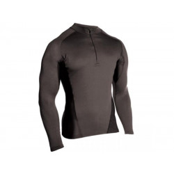 Футболка BlackHawk Engineered Fit Shirt Long Sleeve 1/4 Zip, черная, длинный рукав, L (BlackHawk)