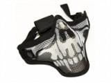 Маска защитная сетчатая на лицо HY024 череп, черная (Cyma)