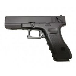 Страйкбольный пистолет Glock G18, Gas, черный (KJW)