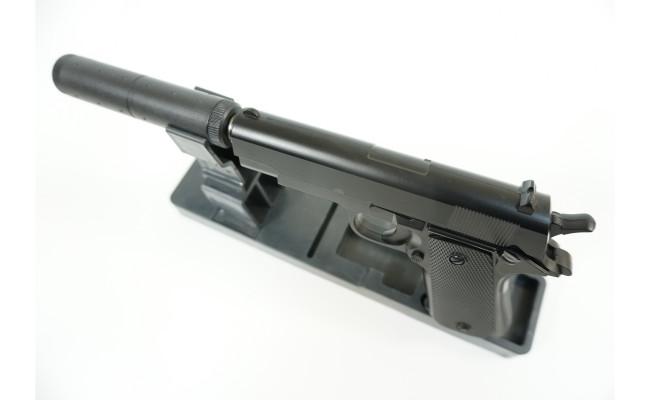 Страйкбольный пистолет G.18.6 Colt 1911 с глушителем