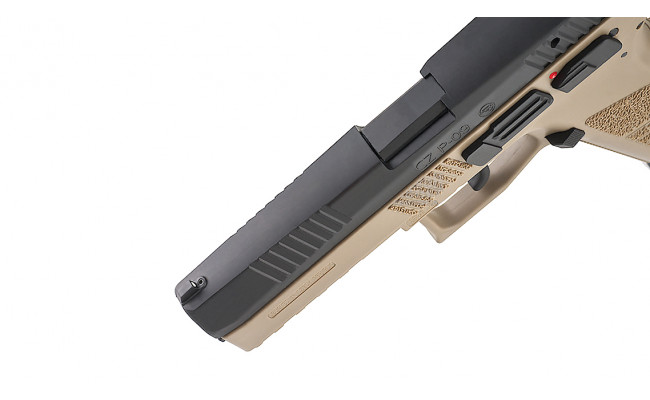 Страйкбольный пистолет CZ SP-09 Duty GBB Tan (KJW)