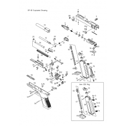 Корпус газовой камеры / KJW KP-18 Loading Muzzle #6