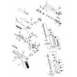 Пружина спускового крючка усм для KP-18 (KJW)