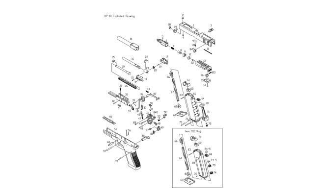 Заправочный клапан для магазина / KJW KP-18 Filling Valve #72