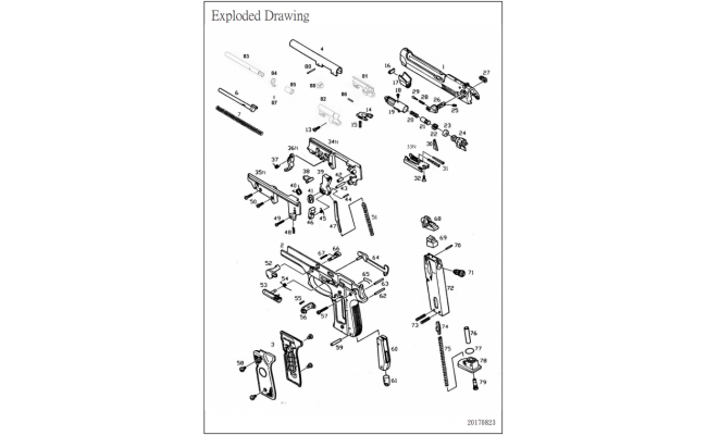 Корпус газовой камеры / KJW M9 Loading Muzzle #19
