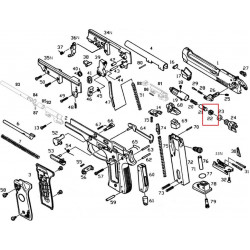 Блокиратор газового поршня для M9 (KJW)