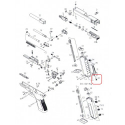 Впускной клапан мгазина для KP-17 (KJW)