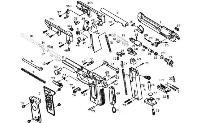 Пружина спускового крючка усм для M9 (KJW)