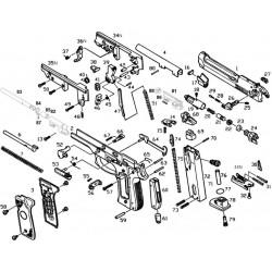 Пружина спусковая усм для M9 (KJW)