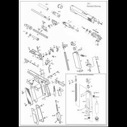 Основание газового поршня / KJW 1911 Ring Head  №8