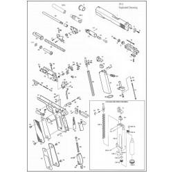 Фиксатор блокиратора газового поршня для 1911 (KJW)