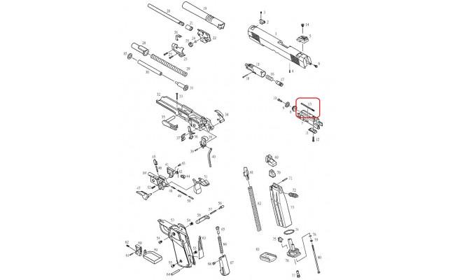 Возвратная пружина газовой камеры для KP-05 (KJW)