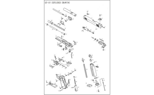 Корпус газовой камеры / KJW KP-05 Loading Muzzle #15