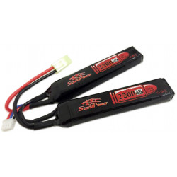 Аккумулятор 2200mah 7.4V 20C 2x (104x20x12)мм (Storm Power)