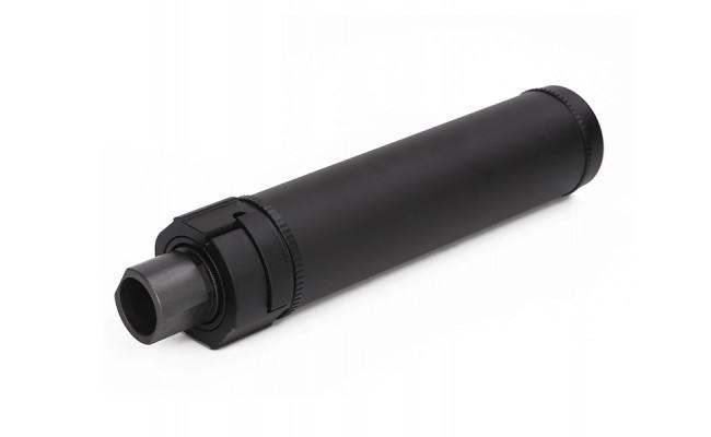 Модель глушителя c дульным тормозом 148mmQD Silencer W/Flash Hider/BK (Big Dragon)
