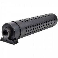 Модель глушителя c дульным тормозом KAC PDW QD silencer w/ QD flash hider-BK (Big Dragon)