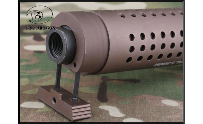 Модель глушителя c дульным тормозом KAC PDW QD silencer w/ QD flash hider-CB (Big Dragon)