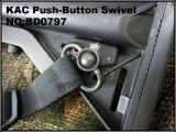 Антабка KAC Push-Button Swivel (Big Dragon)