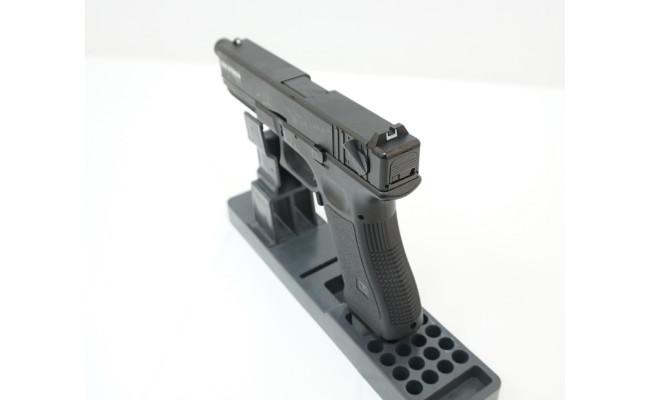 Страйкбольный пистолет Glock G18 с резьбой под глушитель, Gas, черный (KJW)