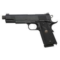 Страйкбольный пистолет Colt1911A1 MEU с резьбой под глушитель, Gas, черный (KJW)