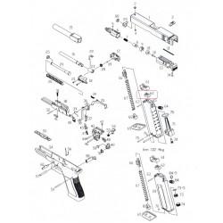 Уплотнительная резинка магазина/KJW KP-23 GASKET #62