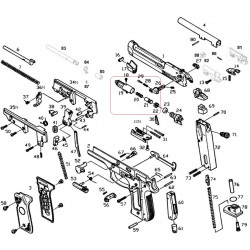 Газовая камера в сборе /KJW M9 CYLINDER ASSEMBLY #(18-22)