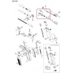 Газовая камера в сборе /KJW KP-09 CYLINDER ASSEMBLY #(32+48+92+35+75+91)