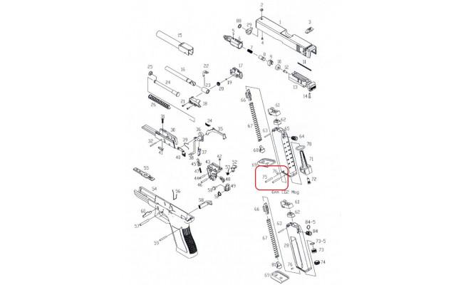 Пины для магазина /KJW KP-17 MAG BASE PIN #75